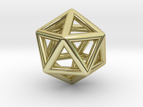 Icosahedron in 18K Gold Plated
