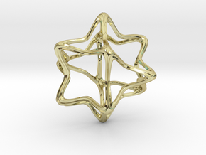 Cube Octahedron Curvy Pinch - 5cm in 18K Gold Plated