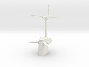 1/96 scale Brooke Class Mast in White Natural Versatile Plastic