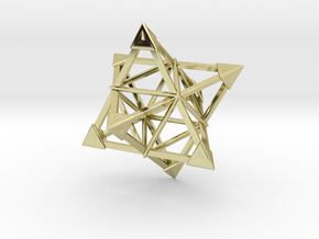Merkaba Wire 1 Caps 5cm in 18K Gold Plated