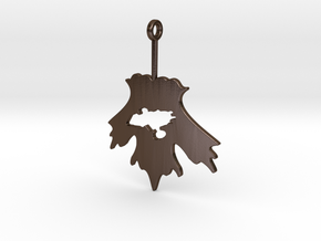 Firefly Leaf on the Wind Pendant in Polished Bronze Steel