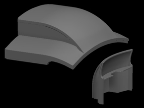 Sn3 D&RGW coach roof end in Smooth Fine Detail Plastic
