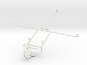 Controller mount for PS4 & Samsung Google Nexus 10 in White Natural Versatile Plastic