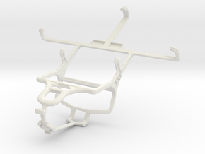 Controller mount for PS4 & Samsung I9295 Galaxy S4 in White Natural Versatile Plastic
