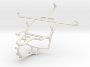 Controller mount for PS4 & Samsung I9502 Galaxy S4 in White Natural Versatile Plastic