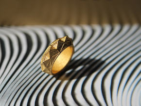 """Hearst Tower"" Architecture fantasy Ring in 14k Gold Plated Brass"