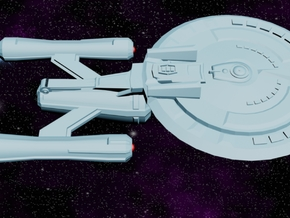 USS Oracle (Shadow Class) in White Strong & Flexible Polished