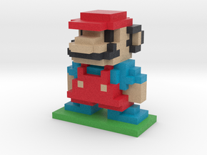 8Bit Mario Large in Full Color Sandstone