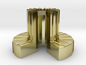 1/100-scale Cray-1 Christmas Ornament in Polished Bronze Steel