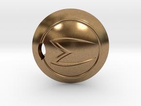 Mach 5 keychain in Natural Brass