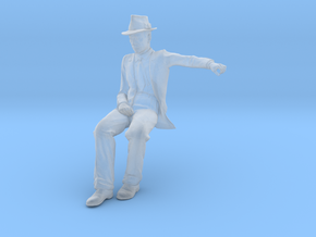 1:32 Scale Seated Figure in Smooth Fine Detail Plastic
