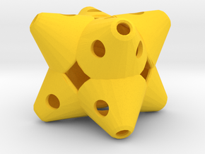 Dice159 in Yellow Processed Versatile Plastic