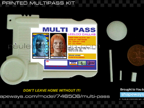 Multi Pass in White Natural Versatile Plastic