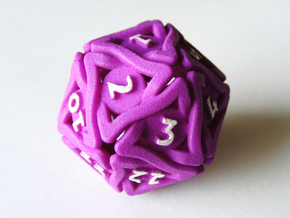 'Twined' Dice D20 MTG Spindown Life Counter Die 32 in Purple Processed Versatile Plastic