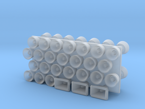 1:96 scale Loud Hailers in Smooth Fine Detail Plastic