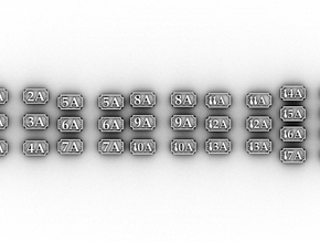 NA Number Plates(OO9/1:76 Scale) in Smooth Fine Detail Plastic