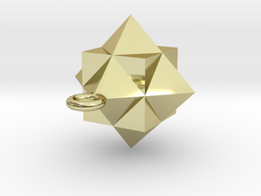 Gamma Star Ornament in 18K Gold Plated