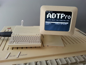 Apple Monitor IIc - 1:4 Scale in White Natural Versatile Plastic