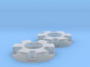 1/64 Wheel Weights Inner (2 Pieces) in Smooth Fine Detail Plastic