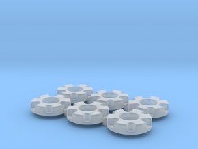 1/64 Wheel Weights Inner (6 Pieces) in Smooth Fine Detail Plastic
