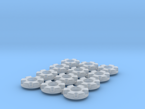 1/64 Wheel Weights Inner (12 Pieces) in Smooth Fine Detail Plastic