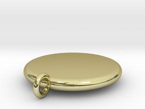Basic Round Medallion in 18K Gold Plated