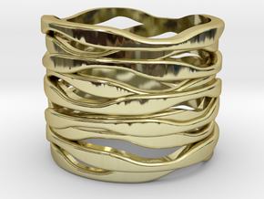BASHIBA RAW WAVES (16.6 mm) in 18K Gold Plated