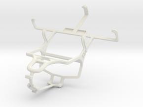 Controller mount for PS4 & Spice Mi-354 Smartflo S in White Natural Versatile Plastic