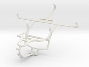 Controller mount for PS4 & Spice Mi-502 Smartflo P in White Natural Versatile Plastic