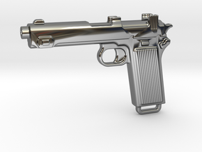 STEYR 9 GUN in Fine Detail Polished Silver