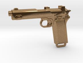 STEYR 9 GUN in Natural Brass