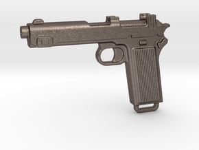 STEYR 9 GUN in Polished Bronzed Silver Steel