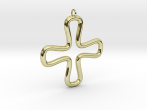 Minimalist Cross 2 in 18K Gold Plated