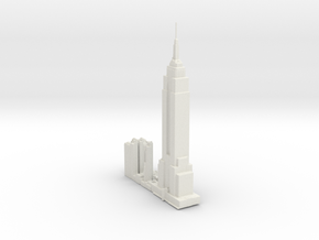 NewYork-Empire State Building-original in White Natural Versatile Plastic