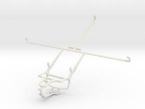 Controller mount for PS4 & Toshiba Excite 10 AT305 in White Natural Versatile Plastic