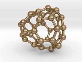 0031 Fullerene c36-03 c1 in Polished Gold Steel