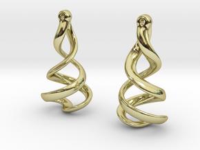 Helixial Elliptical Ear Rings in 18K Gold Plated