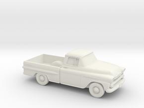 1/87 1958 Chevrolet Apache in White Natural Versatile Plastic