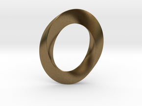 Mobius twisted ovoïde plat in Natural Bronze