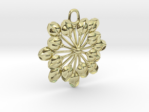 Sun Petals Pendant in 18K Gold Plated