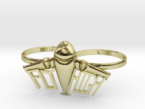 Plane Double Ring in 18K Gold Plated