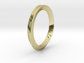 Moebius Triangle Ring in 18K Gold Plated