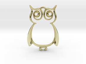 The Owl Pendant in 18K Gold Plated