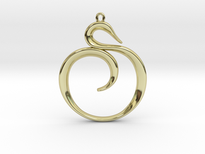 The Spiral Pendant in 18K Gold Plated
