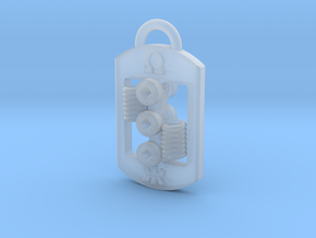 Dog Tag RDA Pendant in Smooth Fine Detail Plastic