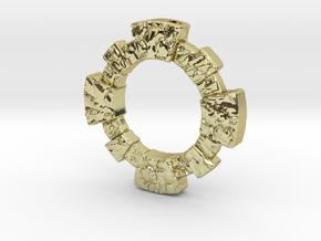 Oeil-de-boeuf Window Pendant in 18K Gold Plated