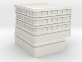 Hospital: Modular Left in White Natural Versatile Plastic