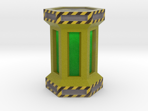Game Piece, Power Grid, Uranium Canister Type 1 in Full Color Sandstone