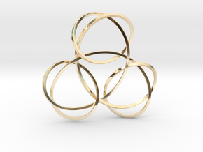 Trinity Knot Pendant in 14k Gold Plated Brass