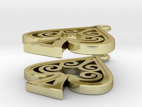 Ace Earrings - Spades in 18K Gold Plated